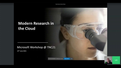 Thumbnail for entry Microsoft workshop Modern research in the Cloud