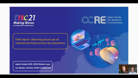 Thumbnail for entry Field report: observing actual use of commercial cloud services by researchers