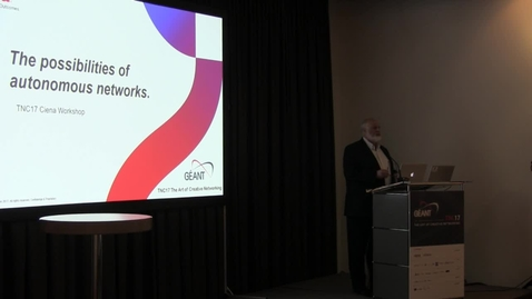 Thumbnail for entry Ciena workshop: The possibilities of the autonomous network