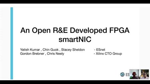 Thumbnail for entry An Open R&E Developed FPGA smartNIC
