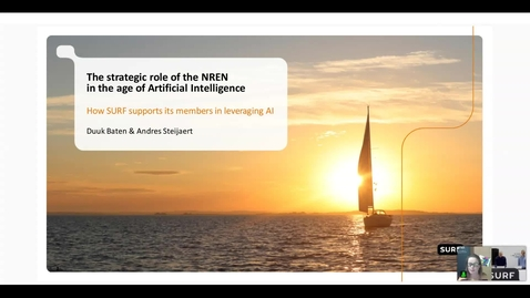 Thumbnail for entry The strategic role of the NREN in the age of AI. How SURF supports its members in leveraging AI