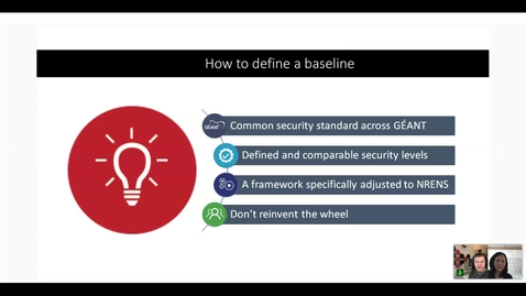 Thumbnail for entry Securing our own lifeboats: implementing the GÉANT Security Baseline