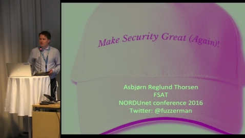 Thumbnail for entry Web security and Secure Research - NDN16 - Track3 D3 0900