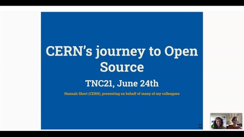 Thumbnail for entry CERN's journey to Open Source