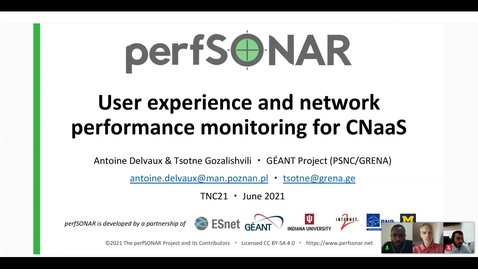 Thumbnail for entry User experience and network performance monitoring for CNaaS