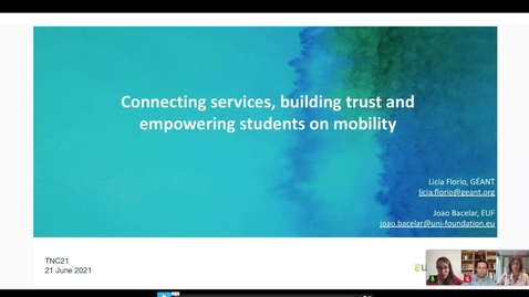Thumbnail for entry Connecting services, building trust and empowering students on mobility