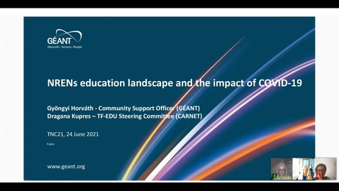 Thumbnail for entry NRENs education landscape and the impact of COVID-19