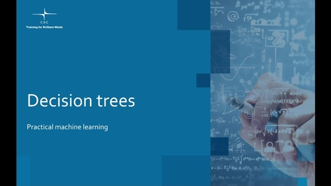 Thumbnail for entry Video 9 – Decision trees.mov