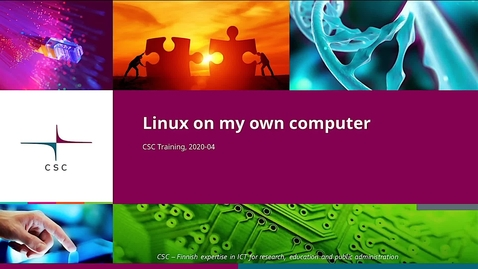 Thumbnail for entry Introduction to Linux: 2 Linux on my own computer