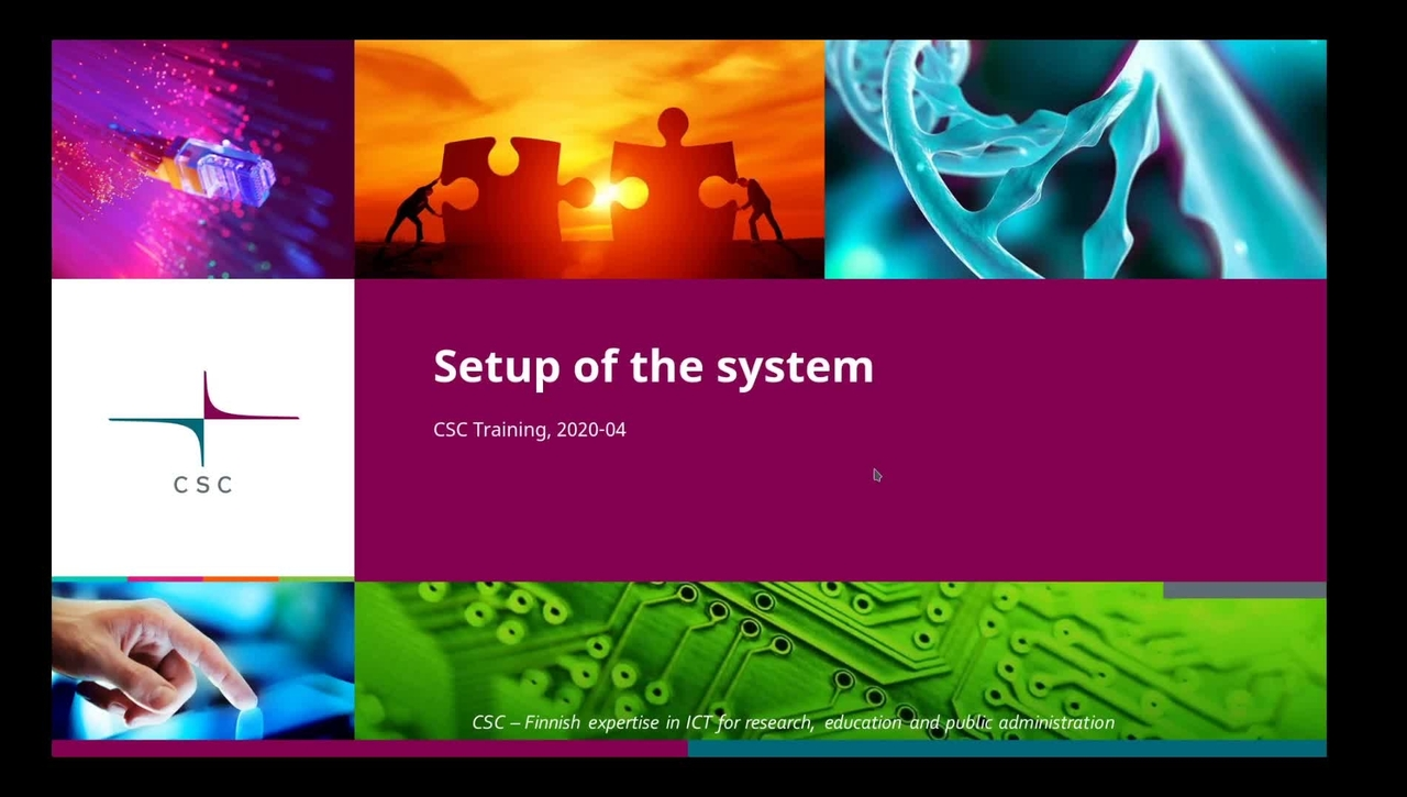 Introduction to Linux: 8 Setup of the system