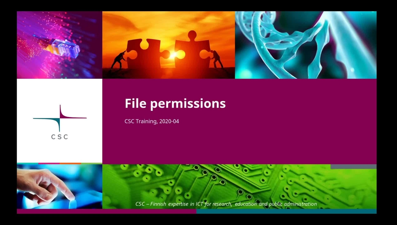 Introduction to Linux: 6 File permissions