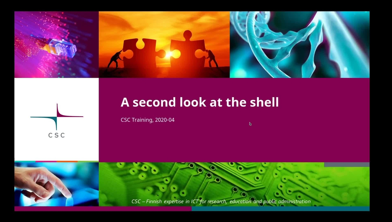 Introduction to Linux: 9 Second look at the shell