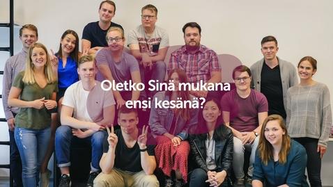 Thumbnail for entry Kesäharjoittelijaksi CSC:lle?