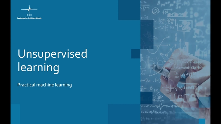 Video 12 – Unsupervised learning.mov