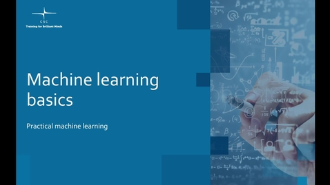 Thumbnail for entry Video 3 – What is machine learning?.mov