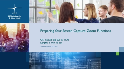 Thumbnail for entry Preparing your screen capture - Zoom functions (FullHD).mov
