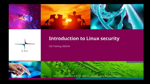Thumbnail for entry Introduction to Linux: 10 Security