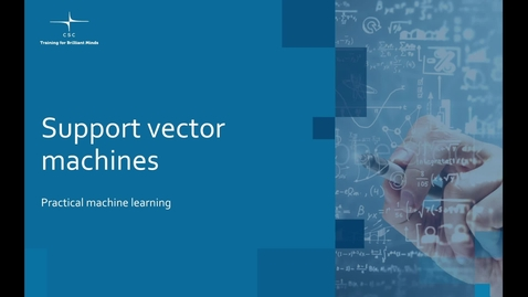 Thumbnail for entry Video 8 – Support vector machines.mov
