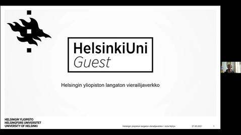 Thumbnail for entry Helsingin yliopiston langaton vierailijaverkko - Funetin tekniset päivät 27.5.2021