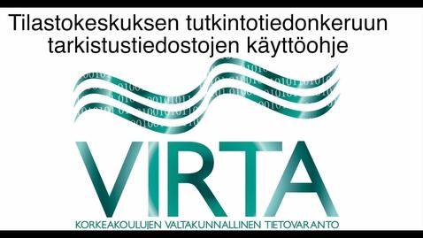 Thumbnail for entry VIRTA - Tutkintotiedonkeruun tarkistustiedostojen käyttö Excelissä