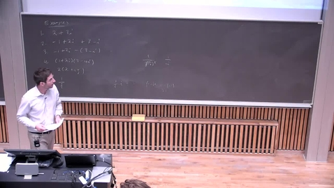Thumbnail for entry Week 1: Long Day Complex Numbers in Rectangular Form Part 2of2