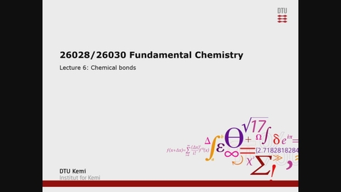 Thumbnail for entry 26028/26030 W6 - Chemical Bonds