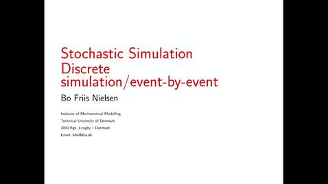 Thumbnail for entry Discrete event simulation - event by event principle