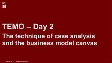 Thumbnail for entry WEEK 2 - The business model and the technique of case analysis (Whole lecture)