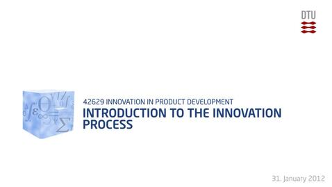 Thumbnail for entry 01-4/4: Introduction to the Innovation process