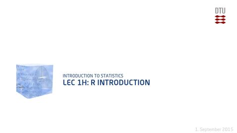 Thumbnail for entry Lec 1H: R Introduction