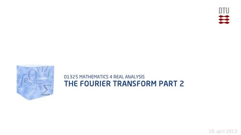 Thumbnail for entry The Fourier Transform Part 2 (480p)