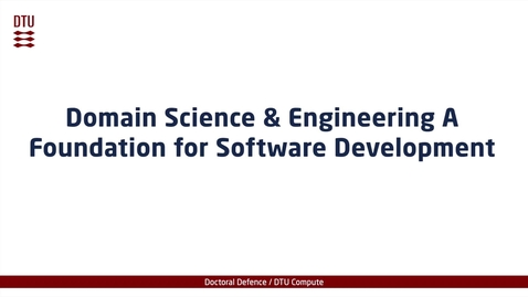 Thumbnail for entry Domain Science & Engineering A Foundation for Software Development