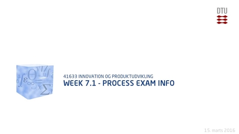 Thumbnail for entry Week 7.1 - Process Exam Info