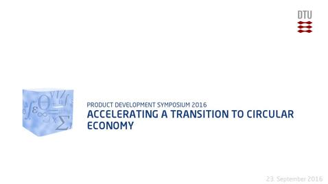 Thumbnail for entry Accelerating a Transition to Circular Economy