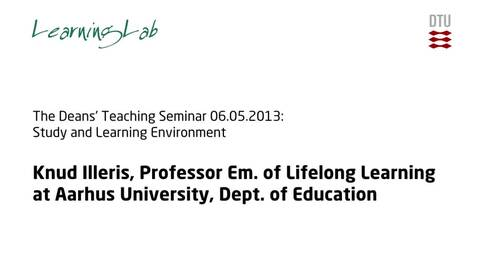 Thumbnail for entry The Deans' Teaching Seminar 06.05.2013: Study and Learning Environment #2