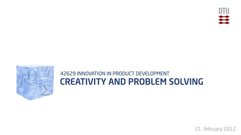Thumbnail for entry 04-1/4: Creativity and problem solving