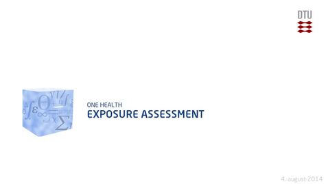 Thumbnail for entry Exposure Assessment