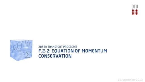 Thumbnail for entry F.2-2: Equation of momentum conservation