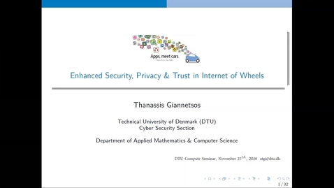 Thumbnail for entry Meet DTU Compute with Associate Professor Athanasios Giannetsos