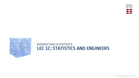 Thumbnail for entry Lec 1C: Statistics and Engineers (480p)