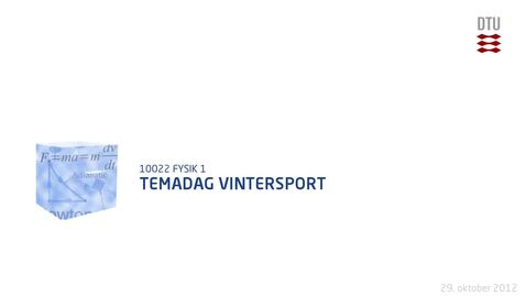Thumbnail for entry Temadag Vintersport