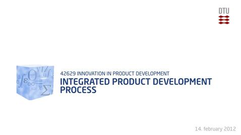 Thumbnail for entry 03-2/4: Integrated Product Development