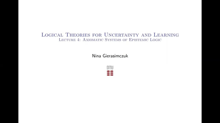 Thumbnail for channel 02287: Logical Theories for Uncertainty and Learning