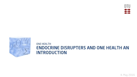 Thumbnail for entry Endocrine Disrupters and One Health an introduction