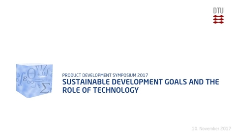 Thumbnail for entry Sustainable Development goals and the role of Technology