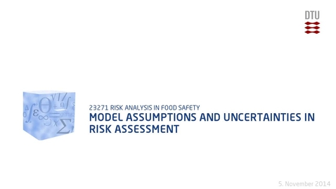 Thumbnail for entry Model Assumptions And Uncertainties In Risk Assessment