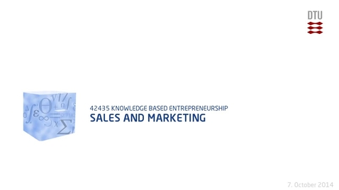 Thumbnail for entry Sales and Marketing