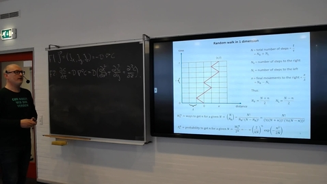 Thumbnail for entry Solutions to Fick's 2nd law: The probabilistic view and Random walk