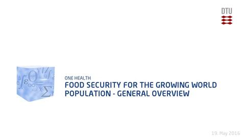Thumbnail for entry Food Security for the growing world population - General Overview