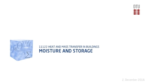 Thumbnail for entry Moisture and Storage